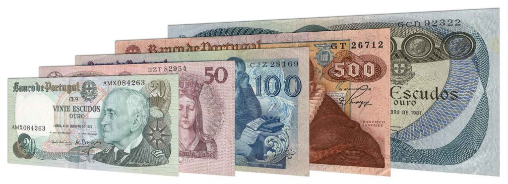 Demonetised Portuguese Escudo banknotes