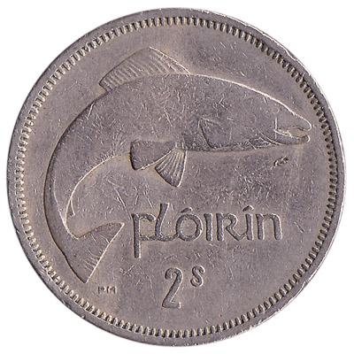 Irish predecimal florin coin