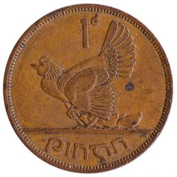 Irish predecimal penny coin