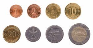 Latvian Lats coins