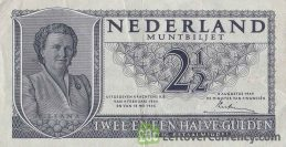 2.5 Dutch Guilders muntbiljet 1949