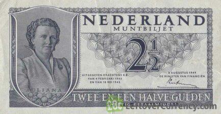 2.5 Dutch Guilders muntbiljet 1949