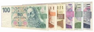 withdrawn Czech koruna banknotes accepted for exchange