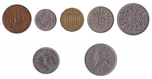 WIthdrawn and predecimal pound sterling coins