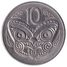 10 cent coin New Zealand (old type)