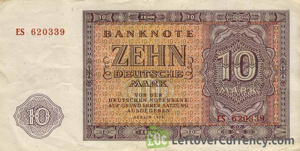 10 DDR Mark banknote Deutschen Notenbank (1955)