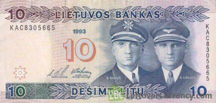 10 Litu banknote Lithuania (1991)