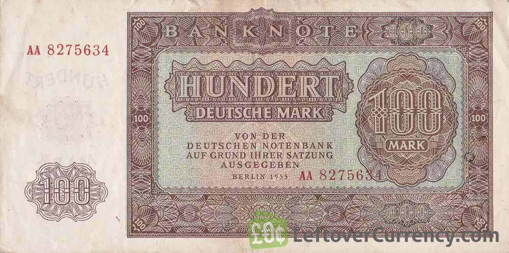 100 DDR Mark banknote Deutschen Notenbank (1955)