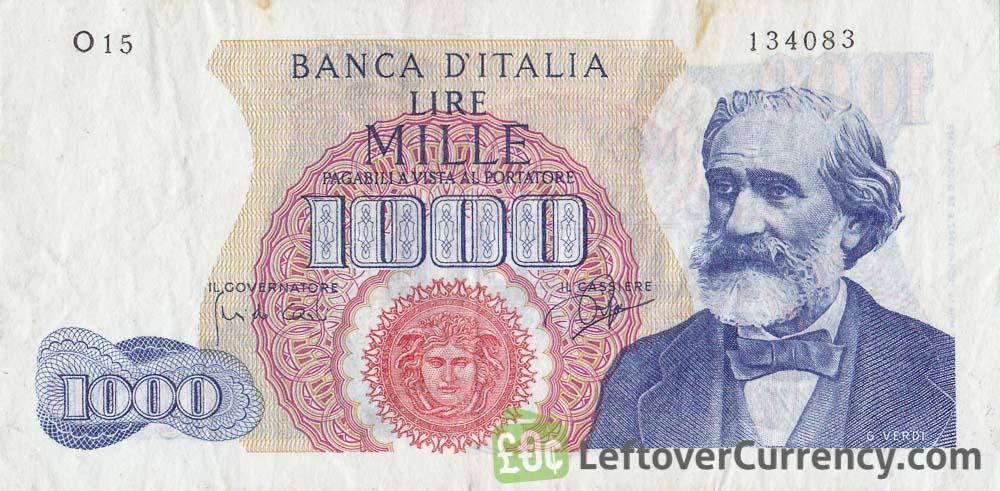 1000 Italian Lire banknote (Verdi)