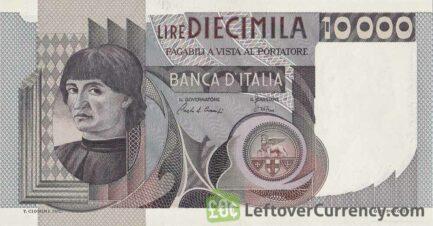10000 Italian LIre banknote (del Castagno)
