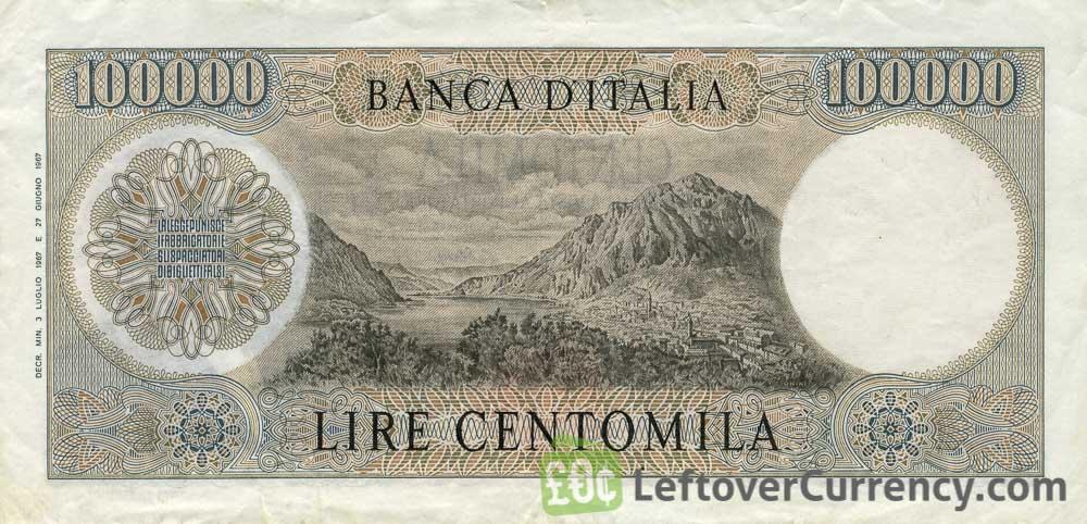 100000 Italian Lire banknote (Manzoni)