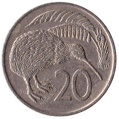 20 cent coin New Zealand (old type)