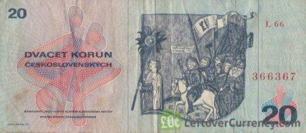 20 Czechoslovak Korun banknote 1970 (Jan Zizka)