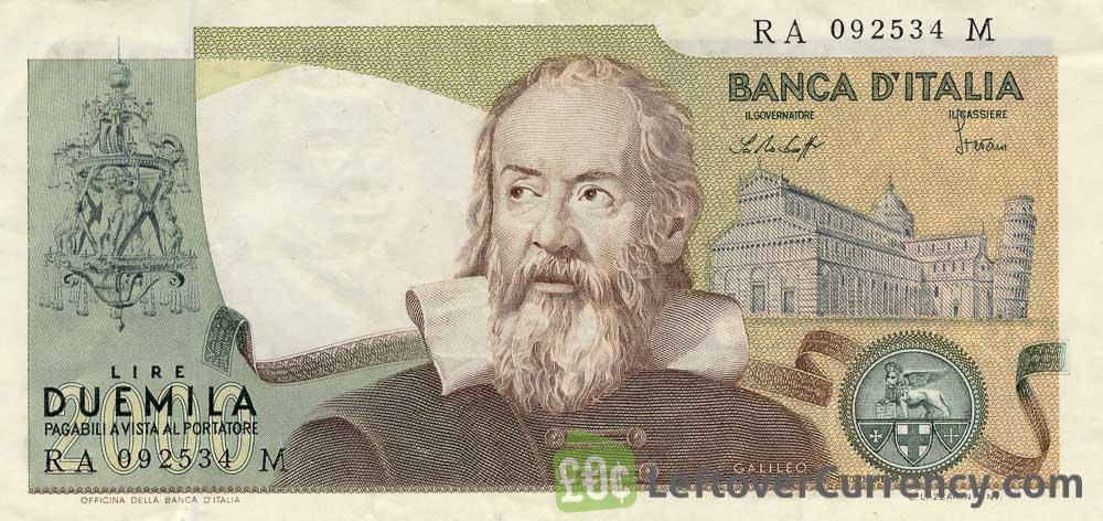 2000 Italian Lire banknote (Galileo)
