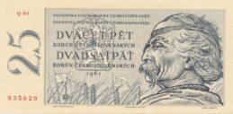 25 Czechoslovak Korun banknote 1961 (Jan Zizka)