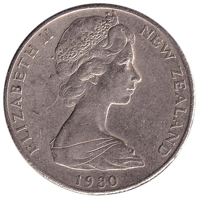 50 cent coin New Zealand (old large type)