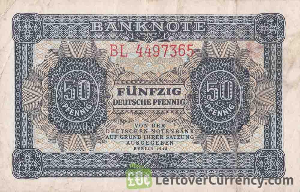 50 Deutsche Pfennig DDR banknote Deutschen Notenbank (1948)