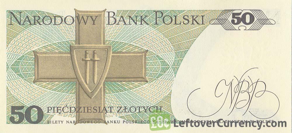 50 old Polish Zlotych banknote (Karol Świerczewski)