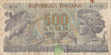 500 Italian Lire banknote (Arethusa)