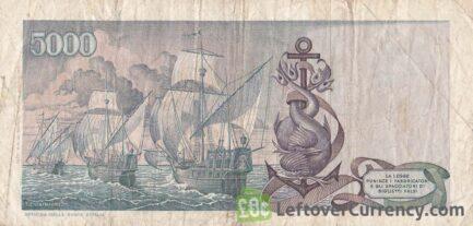 5000 Italian Lire banknote (Columbus)