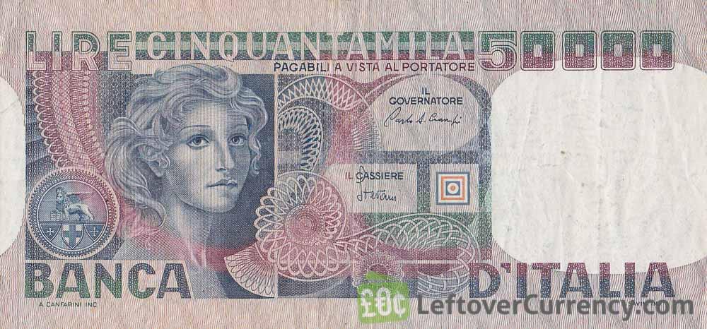 50000 Italian Lire banknote (Volto di Donna)