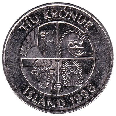 10 Icelandic Kronur coin