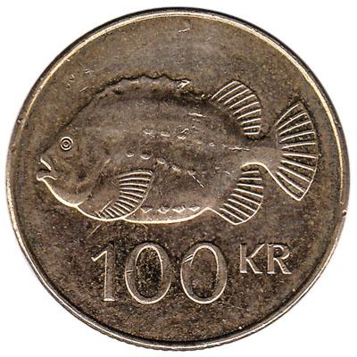 100 Icelandic Kronur coin