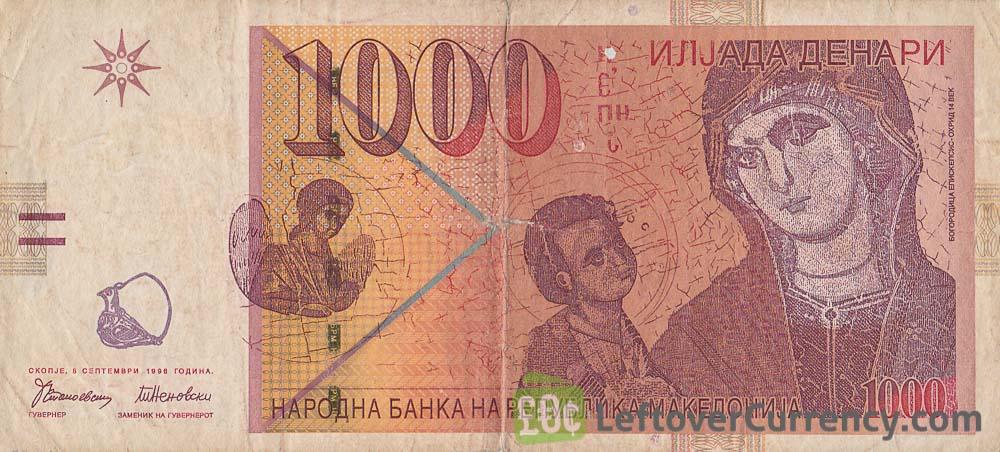 1000 Macedonian Denari banknote