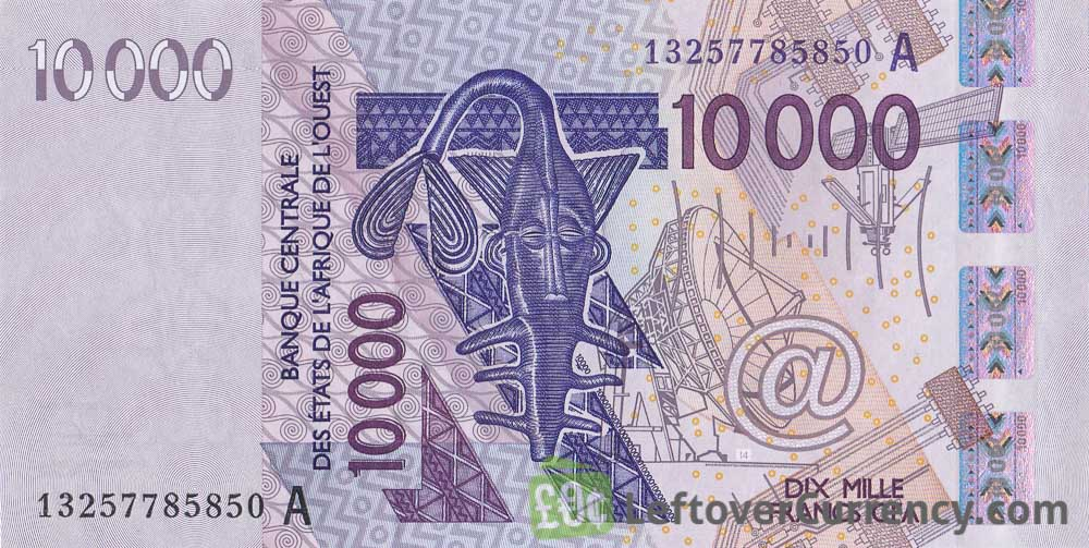 10000 francs banknote West African CFA