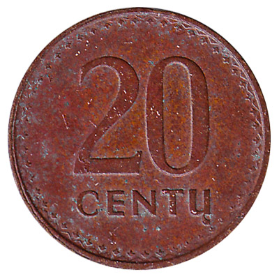 20 Centas coin Lithuania (1991-1996)