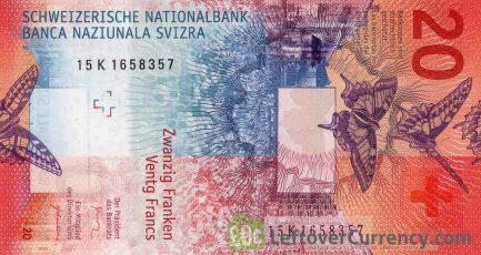 20 Swiss Francs banknote (9th Series)