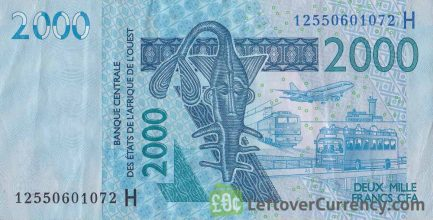 2000 francs banknote West African CFA