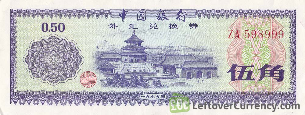 50 Fen Bank of China foreign exchange certificate
