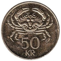 50 Icelandic Kronur coin