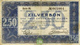 2 1/2 Dutch Guilders banknote (Zilverbon)