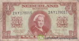 5 Dutch Guilders banknote (Zilverbon) obverse accepted for exchange