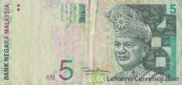 5 Malaysian Ringgit banknote (3rd series)