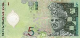 5 Malaysian Ringgit banknote (3rd series polymer)