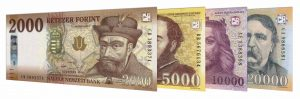 current Hungarian Forint banknotes