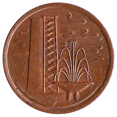 1 cent coin Singapore (First series)