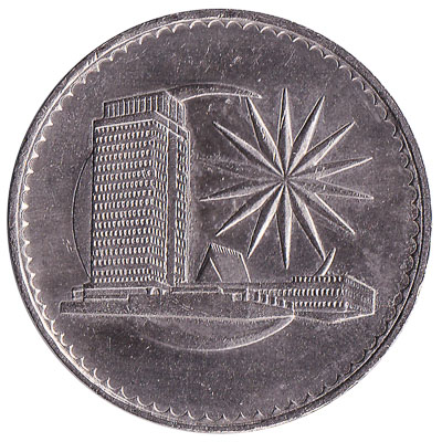 1 dollar coin Malaysia (First series)