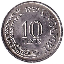 10 Cents coin Singapore (First series)