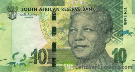 10 South African Rand banknote (Nelson Mandela)