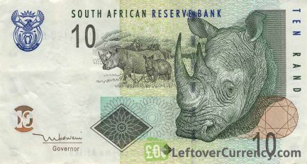 10 South African Rand banknote (Rhino type 2005)