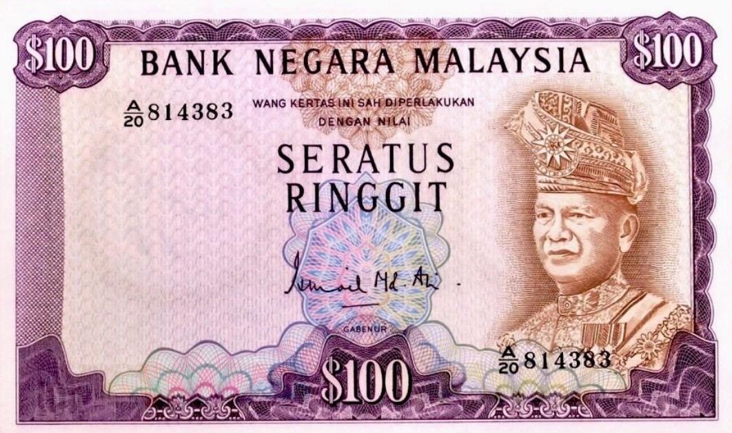 100 Malaysian Ringgit (1st series)