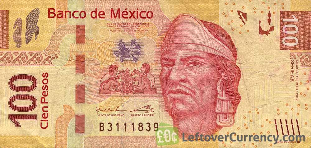 100 Mexican Pesos banknote obverse