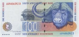 100 South African Rand banknote (Buffalo type 1994)