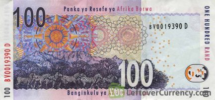 100 South African Rand banknote (Buffalo type 2005)