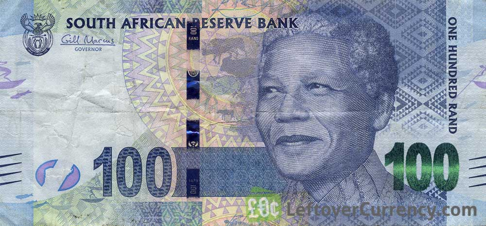 100 South African Rand banknote (Nelson Mandela)