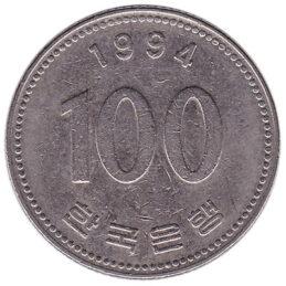100 South Korean won coin